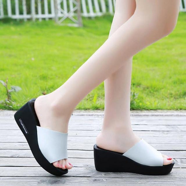 Women's - Summer Beach Sandals High Heel Casual