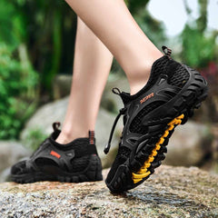 Unisex - Summer Breathable Hiking Shoes Suede + Mesh Outdoor Sneakers