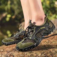 Unisex - Summer Breathable Hiking Shoes Suede + Mesh Outdoor Sneakers-Cheapnotic