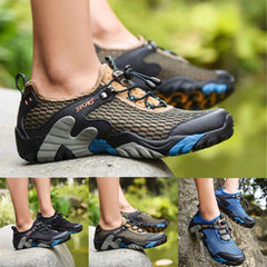 Men's - Summer Breathable Hiking Shoes Suede + Mesh Outdoor Sneakers