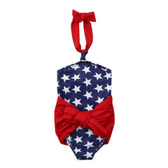 Kids' - Toddler Baby Girls 4th Of July Star Wrap Swimsuit