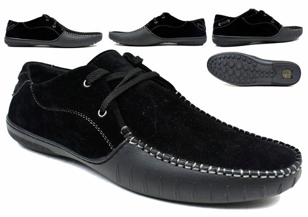 Men's - Block Black Lace Loafer