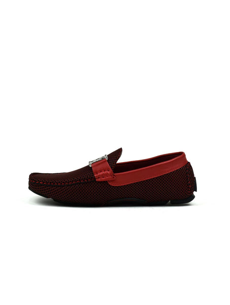 Men's - Double H Buckle Loafer Red