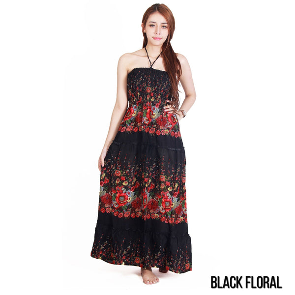 Women's - Hippie Maxi Dress