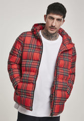 Men's - Hooded Check Puffer Jacket