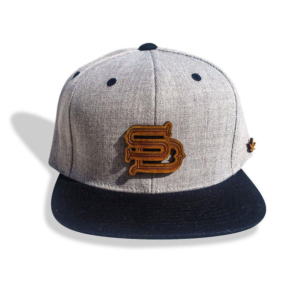 Men's - San Diego SD Wooden Medallion Snapback Hat