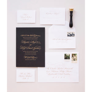 Duke Letterpress Wedding Invitation
