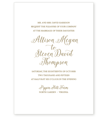 MAGNOLIA LETTERPRESS INVITATION SAMPLE