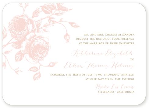JULIET LETTERPRESS INVITATION SAMPLE