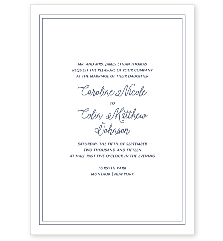 MONTAUK LETTERPRESS INVITATION
