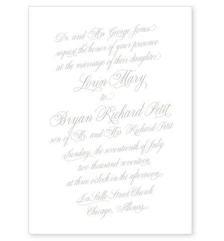 FLOURISH LETTERPRESS INVITATION