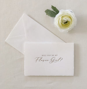 WILL YOU BE MY FLOWER GIRL card