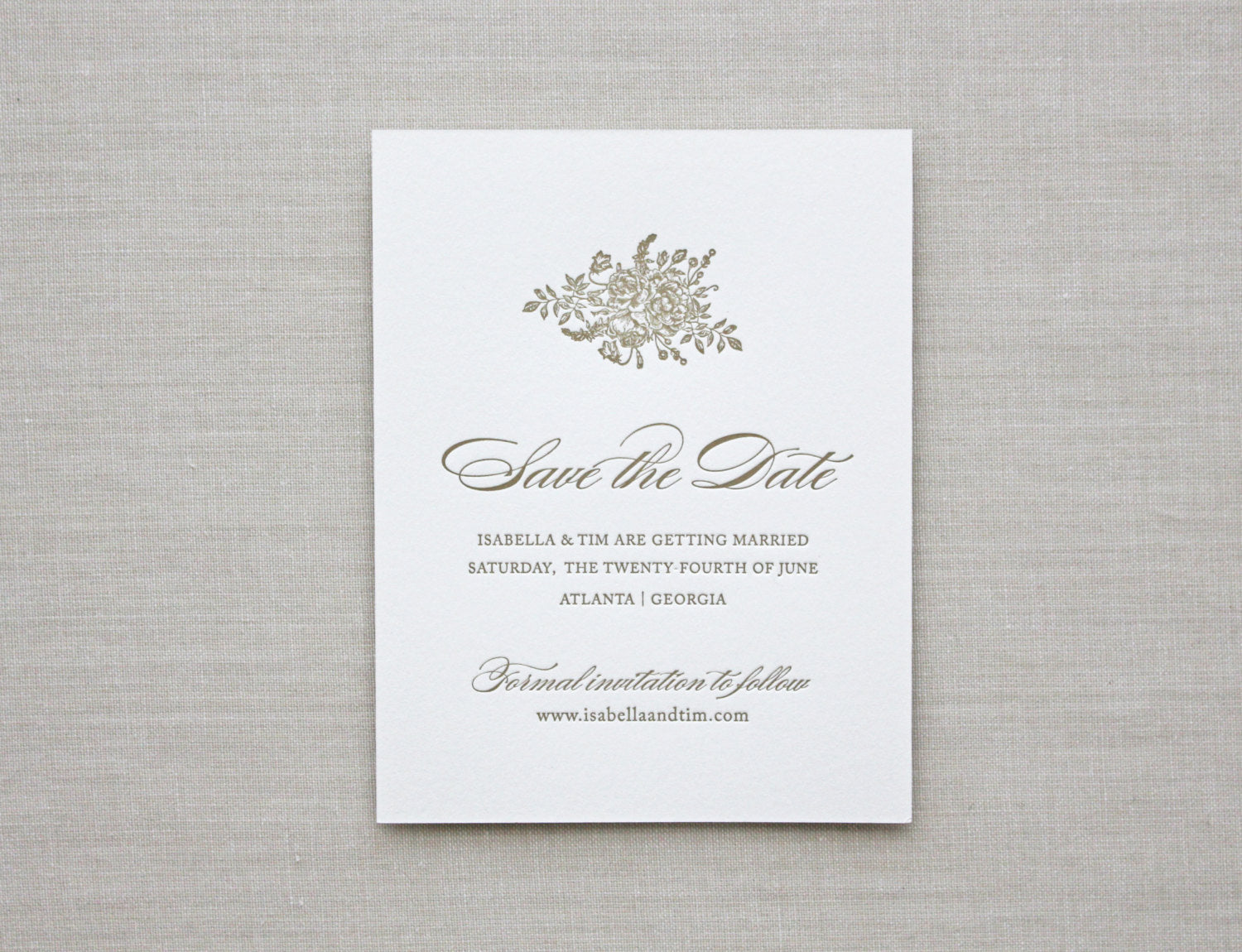 Excellent BOUQUET: Save the Date - CHATHAM & CARON | Letterpress Wedding  YL19