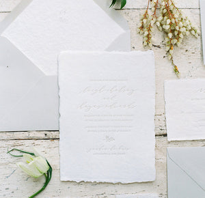 Flora Letterpress Wedding Invitation
