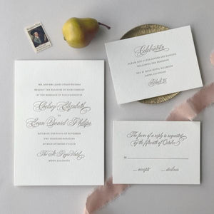 Bello Letterpress Wedding Invitation