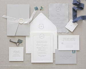 Florence Letterpress Wedding Invitation