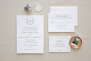 Positano Letterpress Wedding Invitation
