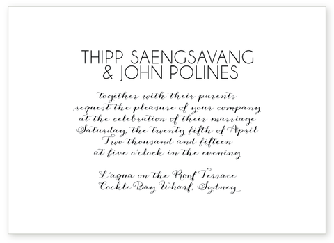 SOHO LETTERPRESS INVITATION
