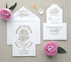 BLOOM LETTERPRESS INVITATION