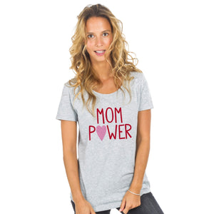 T-shirt gris Mom Power - Sans idée fixe