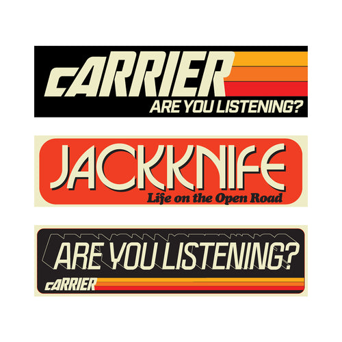 Carrier Bumper Stickers 3 Pack