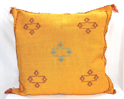 Gorgeous One-Of-A-Kind Yellow Moroccan Berber Pillow Handmade