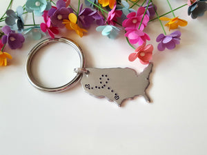 United States Long Distance Keychain