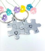 Load image into Gallery viewer, Puzzle Piece Keychain Set