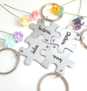 Personalized Keychains, Friendship Keychains, Family Keychains
