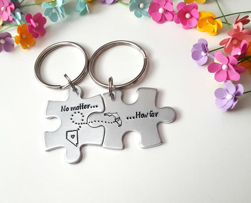 How Matter How Far, Personalized Puzzle Keychains