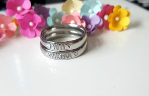 Personalized Stainless Steel Ring Set