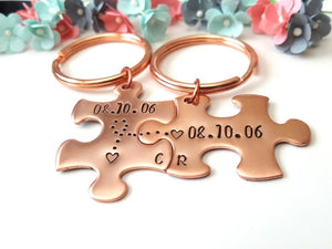 7 Year Copper Anniversary Puzzle Set