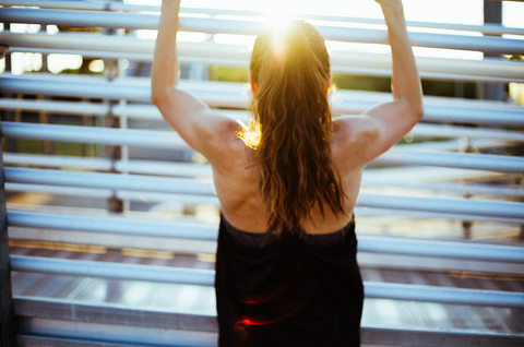 Sweat Is Your Friend - Woman working out
