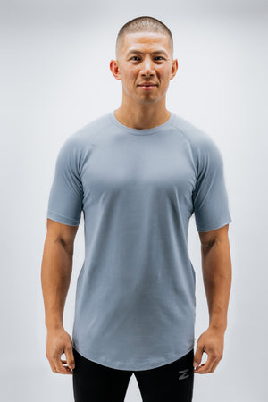 Men's Scoop Bottom Short Sleeve Top