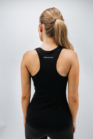 Zenkai Racerback Long Tank Black Back