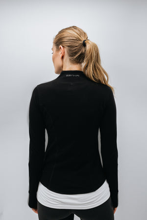 Zenkai Full Zip Mock Jacket Black Back