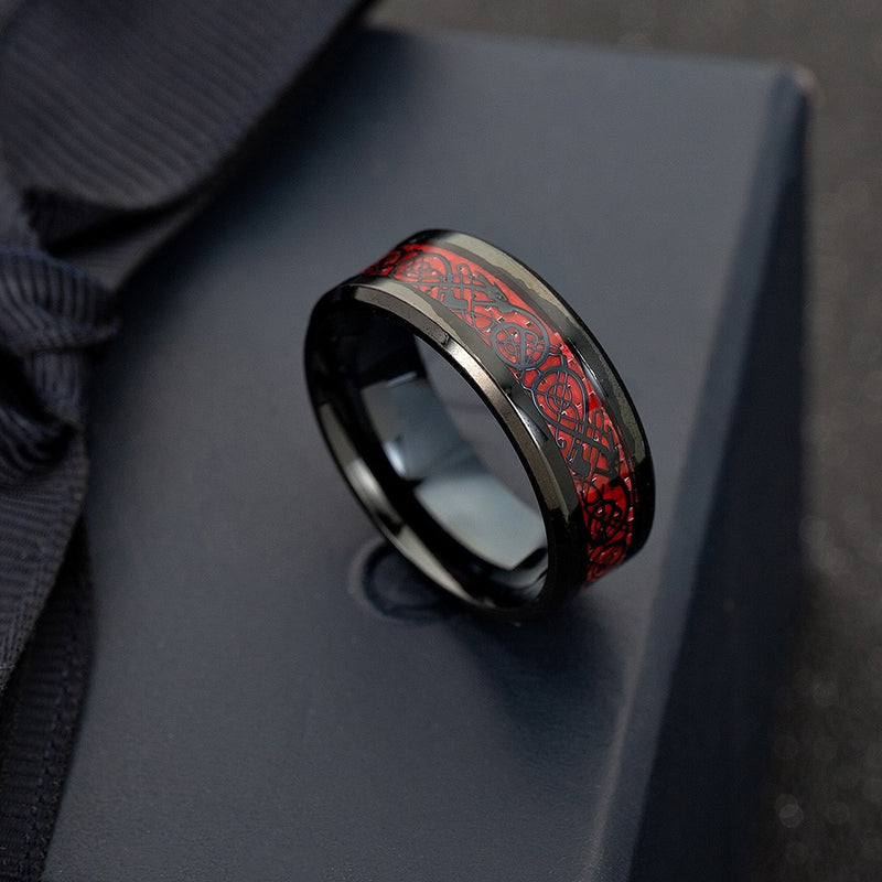 LIMITED EDITION DRAGON RING (GREEN & RED )