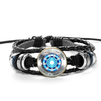 Special Arc Reactor Leather Bracelets