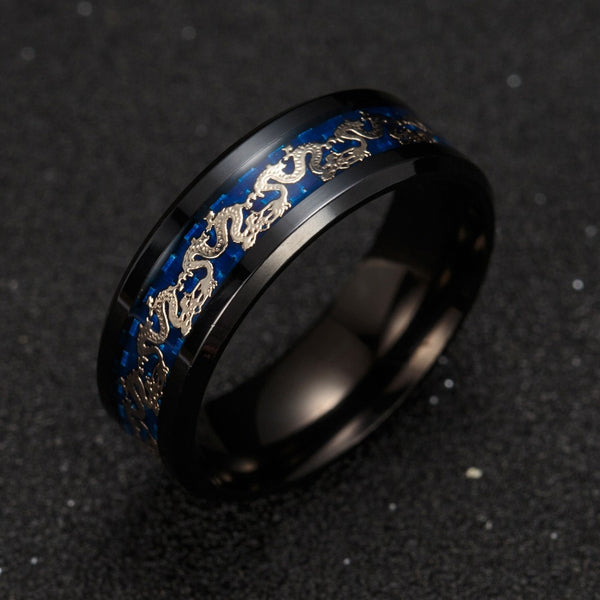 TITANUM STEEL DRAGON RING