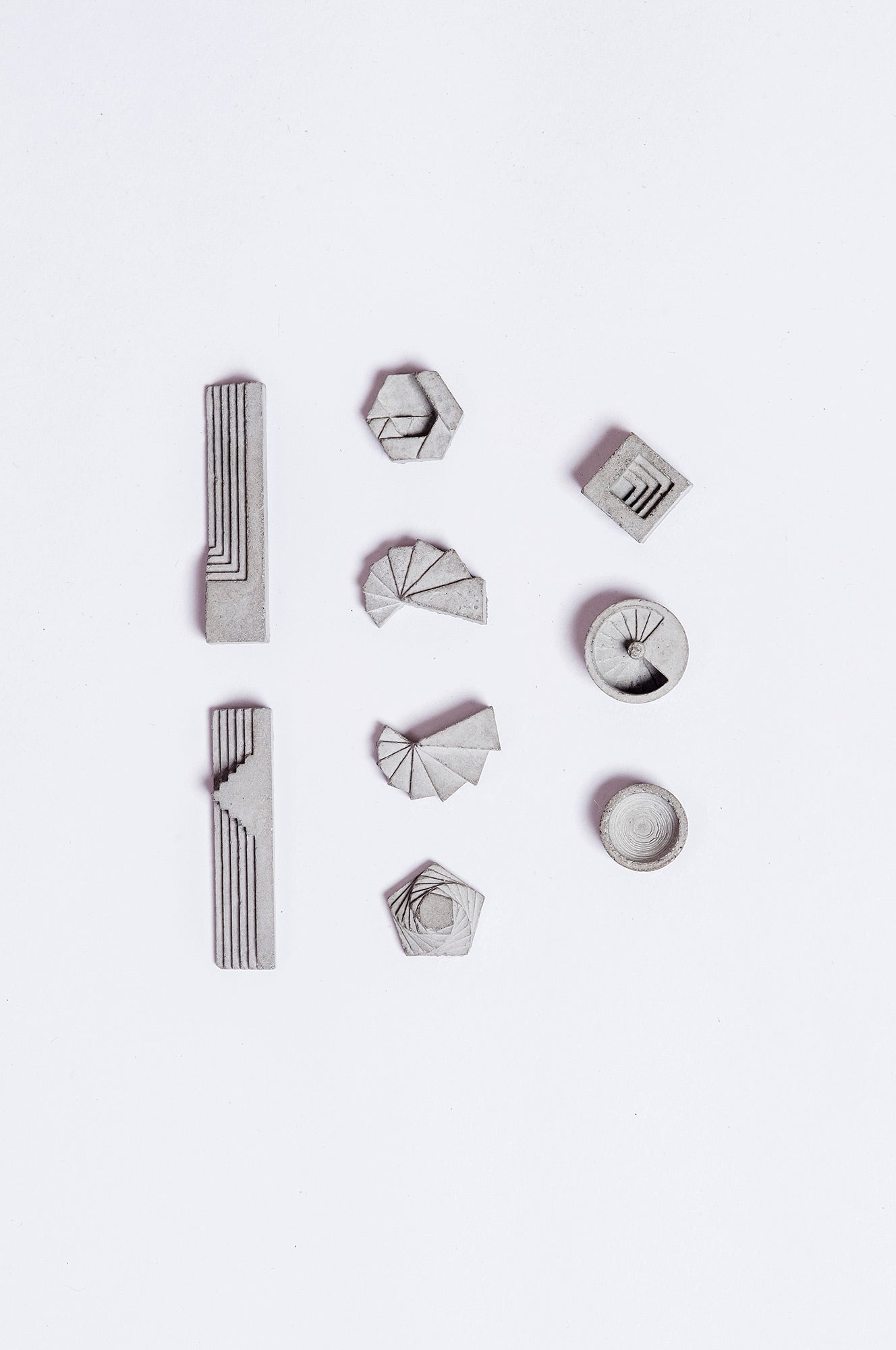 ELEMENTS Concrete Earring Collection by Material Immaterial Studio