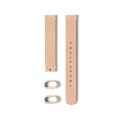 A Beige Colored 14mm Watch Strap Made With Italian Leather