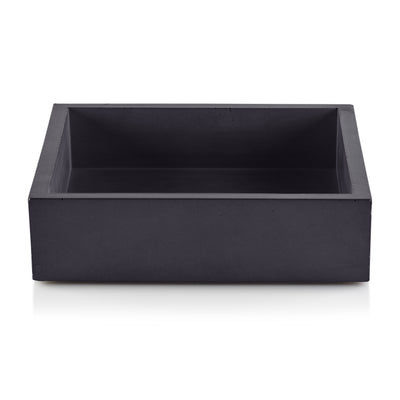 Dark Gray Concrete Napkin Bin by Port Living Co.