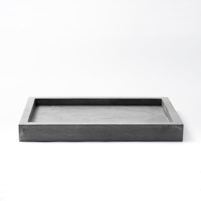 Front View of KOMOLAB Valet Tray (Concrete)