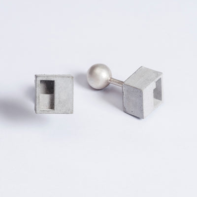 Elements Concrete Cufflinks #1 By Material Immaterial Studio