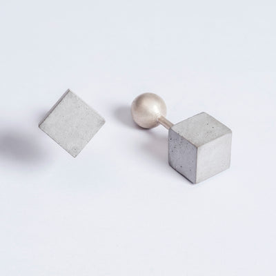 Elements Concrete Cufflinks #2 By Material Immaterial Studio