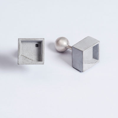 Elements Concrete Cufflinks #3 By Material Immaterial Studio
