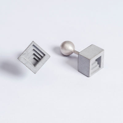 Elements Concrete Cufflinks #4 By Material Immaterial Studio