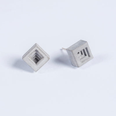Elements Concrete Earrings #6 By Material Immaterial Studio