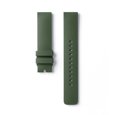 An Olive Colored Fluoroelastomer Watch Band by 22STUDIO