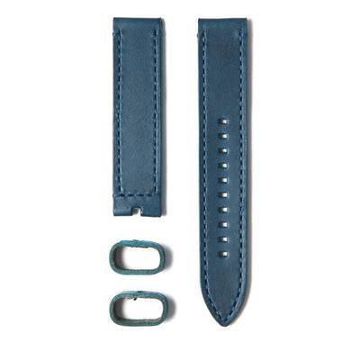 22STUDIO Italian Leather Strap In Atlantic Blue